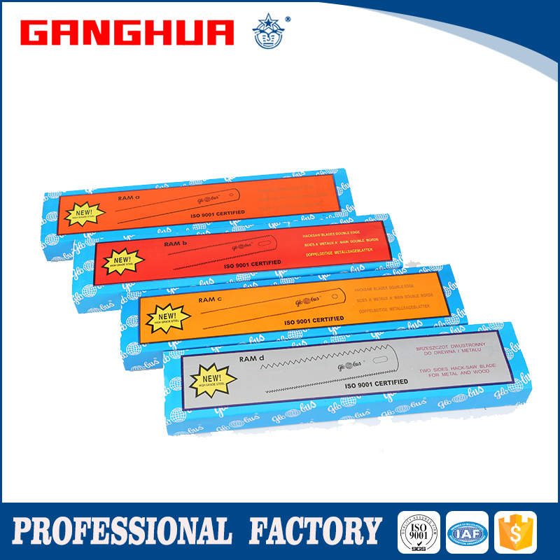 high carbon steel hacksaw blade flexible natural color package