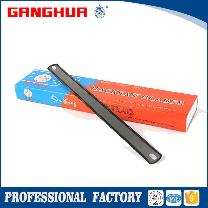 "1"" natural color high carbon steel hacksaw blade (double edge) package"