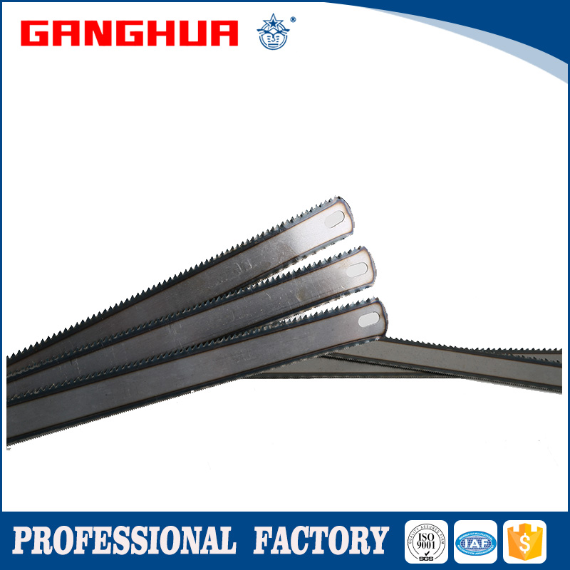 "1"" 8T/24T natural color high carbon steel hacksaw blade (double edge)"