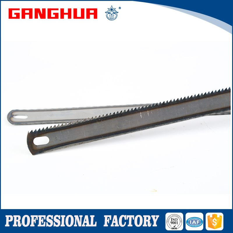 "1"" natural color high carbon steel hacksaw blade (double edge) 8T/24T"